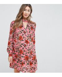 ASOS - Floral Smock Mini Dress - Lyst