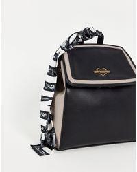 Love Moschino Черная Сумка-рюкзак С Шарфом -черный Цвет