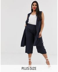 Simply Be Tailored Culottes - Blue