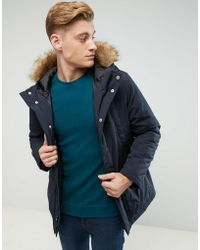 Esprit - Parka With Faux Fur Borg Lined Hood - Lyst