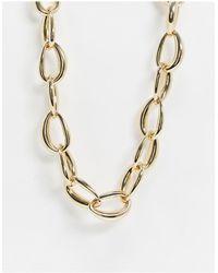 Monki Willow Chunky Chain Necklace - Metallic