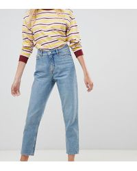 Monki Taiki High Waist Mom Jeans With Organic Cotton In Light Blue