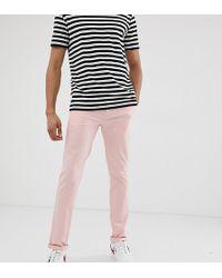 ASOS Tall Slim Chinos In Pastel Pink