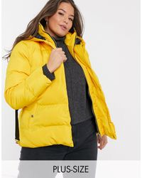 Simply Be Belted Padded Coat - Yellow
