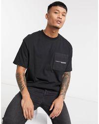Pull&Bear Utility T-shirt - Black