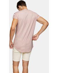 TOPMAN Camiseta rosa larga