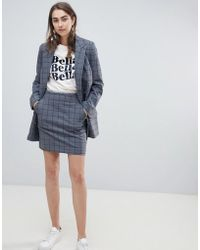 Gestuz - Check Grey Skirt - Lyst