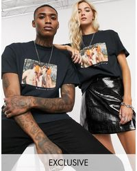 Reclaimed (vintage) Oversized-футболка В Стиле Унисекс С Принтом Inspired-черный