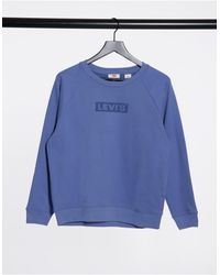 Levi's Синий Свитшот С Логотипом