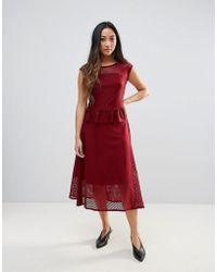 Gestuz - Garrie Sheer Midi Dress - Lyst