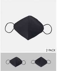 New Look 2 Pack Face Masks - Black