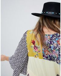 ASOS - Felt Panama Hat With Turquoise Stone Band With Size Adjuster - Lyst