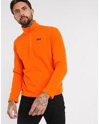 Helly Hansen – Daybreaker – Fleece-Sweatshirt mit 1/2-Reißverschluss - Orange