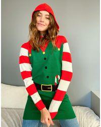 Brave Soul Рождественский Джемпер -зеленый