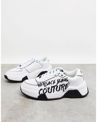 Versace Jeans Couture - Белые Кроссовки С Принтом В Виде Логотипа -белый - Lyst