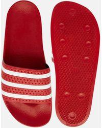 adidas Originals Sandalias Adilette 288193 - Rojo