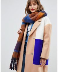 Pieces - Autumn Check Scarf - Lyst
