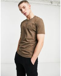 BOSS by Hugo Boss Athleisure - T-shirt arrondi - Marron