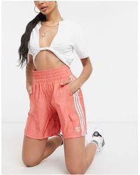 adidas Originals Красные Атласные Шорты Adicolor-красный