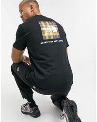The North Face Red Box - T-shirt nera con stampa a quadri - Nero