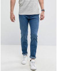 Mango - Man Slim Jeans In Mid Wash Blue - Lyst