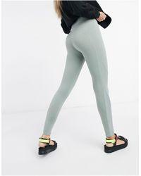 Weekday Sidra Contrast Stitch leggings - Green