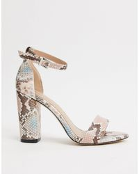 Call It Spring By Aldo Tayvia Ankle Strap Block Heeled Sandal - Pink