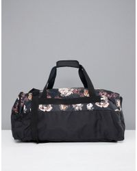 PUMA Floral Sports Bag - Black