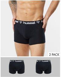 Hummel 2 Pack Boxers - Black