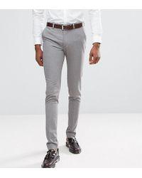 ASOS Tall Super Skinny Smart Pants In Gray