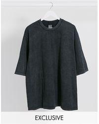 Reclaimed (vintage) - Inspired – Kastiges T-Shirt mit hohem Ausschnitt - Lyst