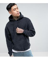 Reclaimed (vintage) - Inspired Oversized Hoodie In Washed Black - Lyst