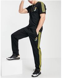 adidas Originals Черные Джоггеры С Тремя Полосками X The Simpsons Firebird-черный