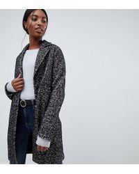 ASOS - Asos Design Tall Cocoon Coat In Texture - Lyst