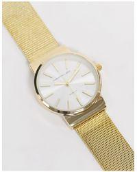 Christin Lars – ene, schmale Armbanduhr mit weißem Zifferblatt - Mettallic