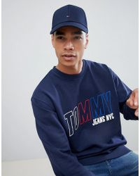 72a24e8301a Lyst - Tommy Hilfiger Flag Baseball Cap In Blue - Blue in Blue for Men