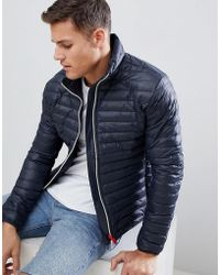 7b2ad5db1b6e1e Ted Baker Jasper Quilted Removable Layer Jacket in Blue for Men - Lyst