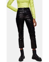 TOPSHOP Editor Straight Leg Jeans - Black