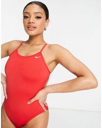 Nike Красный Слитный Купальник