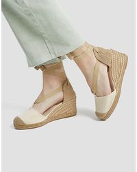 Pull&Bear Heeled Espadrille Tie Up Shoes - Green