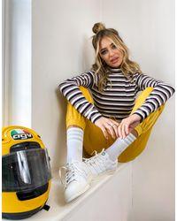 adidas Originals - Полосатый Лонгслив Белого Цвета Comfy Cords-белый - Lyst