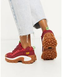 Caterpillar Cat Intruder Chunky Sneakers - Red