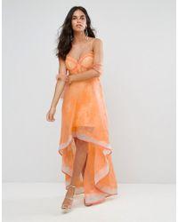 Forever Unique - Structured Lace Hi Lo Dress - Lyst