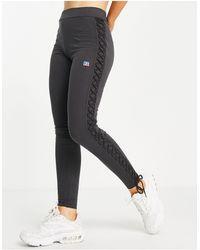 Russell Athletic Leggings con laccetti laterali neri - Nero