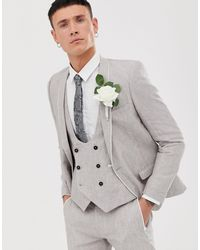 Twisted Tailor Runner Super Skinny Suit Jacket - Grey