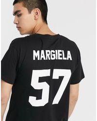 LES (ART)ISTS Les (art)ists Margiela 57 Football T-shirt - Black