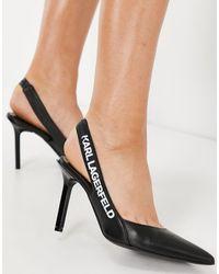 Karl Lagerfeld Черные Туфли На Каблуке С Открытой Пяткой Gala-черный Цвет