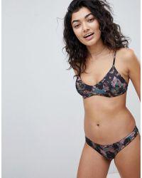 RVCA - Camo Floral Crossbody Bikini Top - Lyst