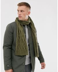 French Connection Cable Knit Scarf - Green