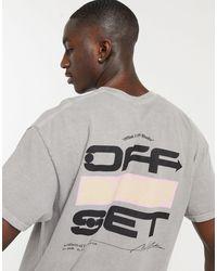 """New Look - Серая Oversized-футболка С Принтом На Спине """"off Set"""" -серый - Lyst"""